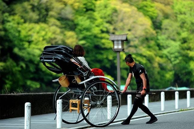 横浜の人力車
