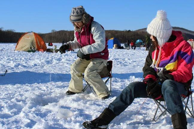 北海道のワカサギ釣り