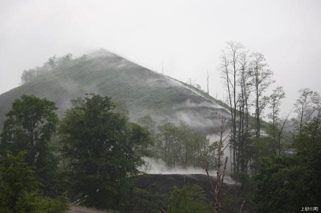 ズリ山 自然発火