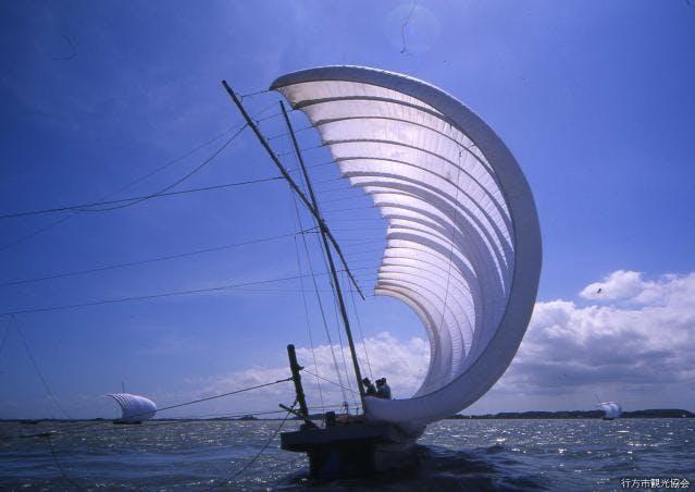 帆引き船(行方市)