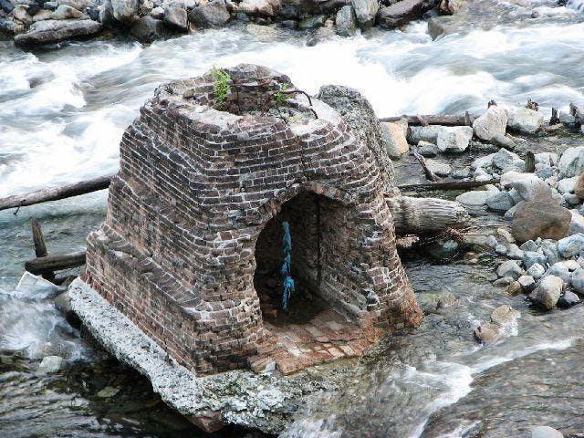 水力発電所跡