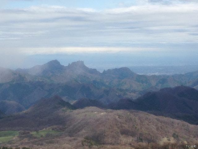 物見山山頂から妙義山