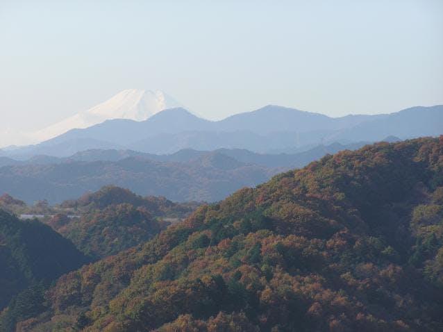 天覧山山頂からの眺め