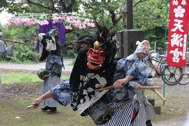 吉羽天神社の獅子舞
