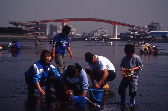 潮干狩:木更津海岸