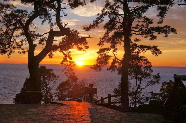 真鶴岬からの日の出