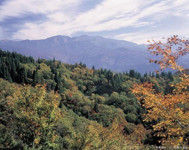 白山遠景(紅葉)