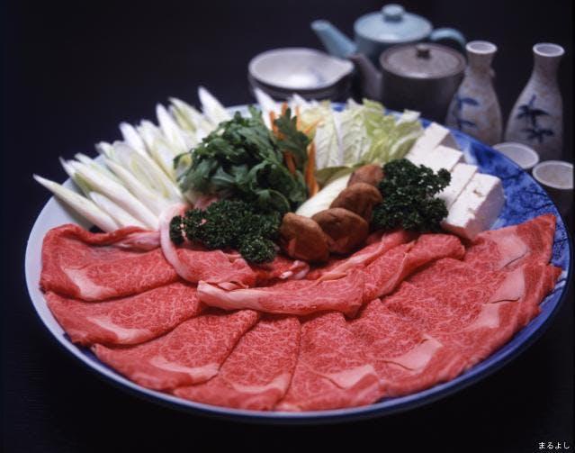 すき焼き・野菜盛