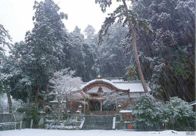杉谷神社(冬)