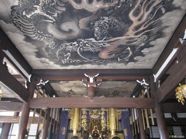 本堂の天井画「雲竜」