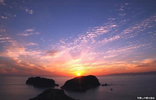 双子島の夕日