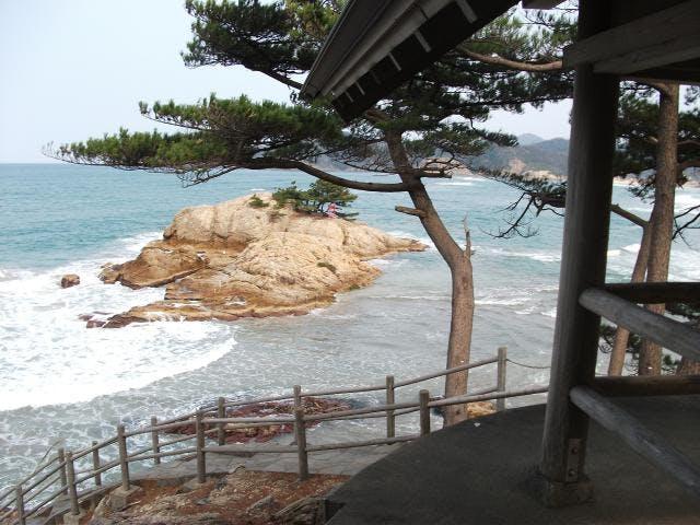浦富海水浴場の宮島