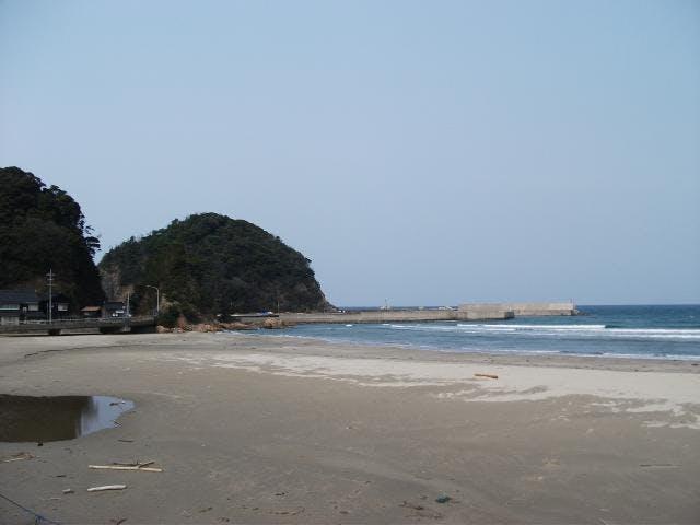 大羽尾の砂浜
