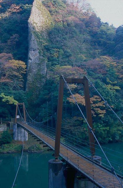 立久恵峡の紅葉