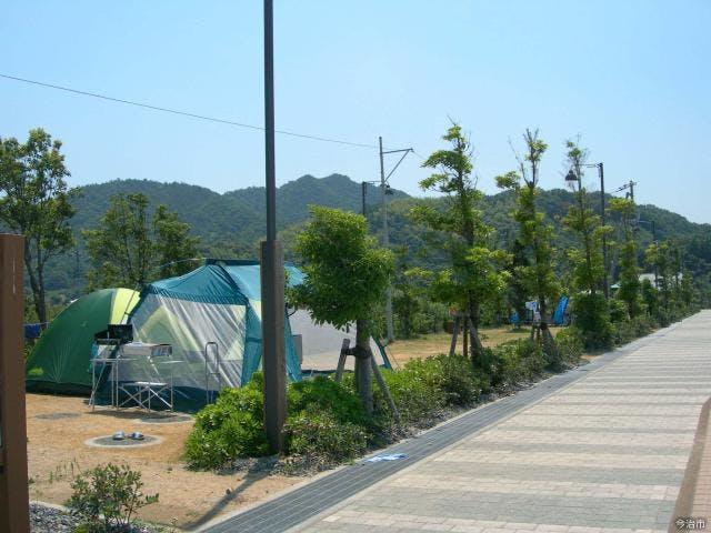 台キャンプ場