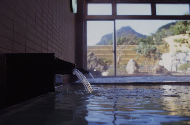 求菩提を眺めれる温泉