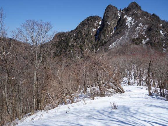 傾山の雪化粧