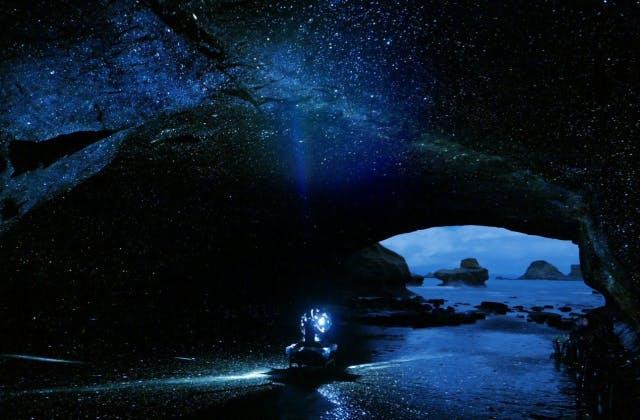 『種子島宇宙芸術祭』では岩屋内でプラネタリウムが楽しめます。
