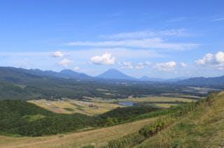 磯谷高原から見た羊蹄山