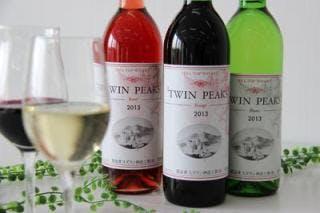つくば産ぶどう100%ワイン「TWIN PEAKS」