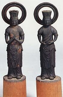 銅造観音勢至菩薩立像・脇侍(2躯)