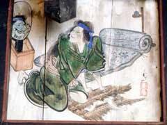 角谷戸薬師堂の天井絵