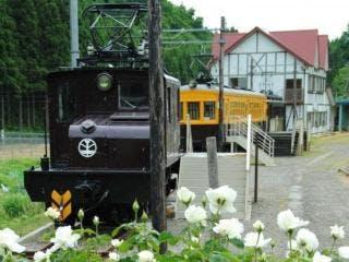 電気機関車ED1などを展示