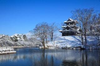 高田城三重櫓 冬