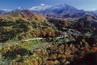 秋山郷全景写真