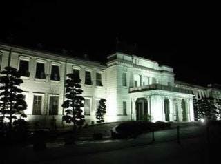 県政資料館夜