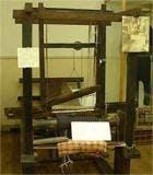 加茂縞(かもじま)の機織機